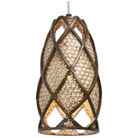 Varaluz Argyle 1 Light Mini Pendant in New Bronze w/ Desert Pearl 203M01