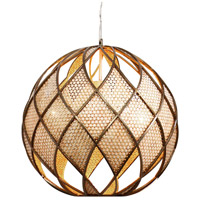 Varaluz Argyle 5 Light Pendant in New Bronze w/ Desert Pearl 203P05