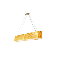Varaluz Flair 8 Light Linear Pendant in Sustainable Natural Fibers 204N08 photo thumbnail