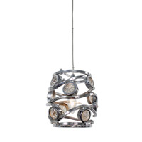Varaluz Swank 1 Light Mini Pendant Artisanal Hand-Worked Chrome with Recycled Champagne Glass 210M01CH