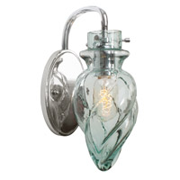Varaluz Vintage 1 Light Vanity Artisanal Hand-Worked Chrome with Recycled Small Spiral Glass 215B01CH