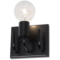 Varaluz Socket-To-Me 1 Light Vanity Wall Sconce in Black 219B01BL