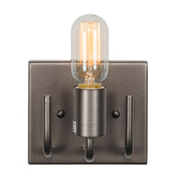Socket-To-Me 1 Light 6 inch New Bronze Vanity Wall Sconce Wall Light