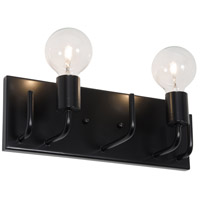 Varaluz Socket-To-Me 2 Light Vanity Wall Sconce in Black 219B02BL