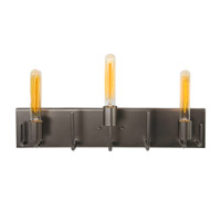Varaluz Socket-To-Me 3 Light Vanity Wall Sconce in New Bronze 219B03NB