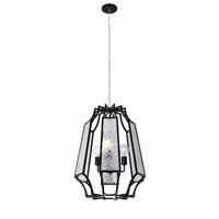 Varaluz Go-Go 3 Light Pendant in Black 220P03BL