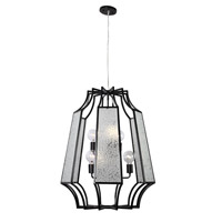 Varaluz Go-Go 6 Light Pendant in Black 220P06BL