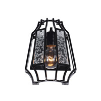 Varaluz Go-Go 1 Light Sconce in Black 220W01BL