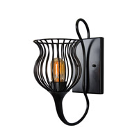 Varaluz Encaged 1 Light Sconce in Black 222K01BL
