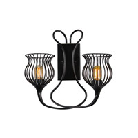 Varaluz Encaged 2 Light Sconce in Black 222K02BL