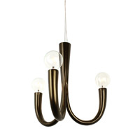 Varaluz Don Taper 3 Light Chandelier in Statue Garden 224C03SG