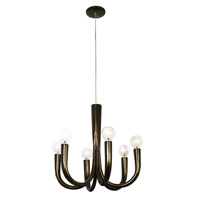Varaluz Don Taper 6 Light Chandelier in Statue Garden 224C06SG