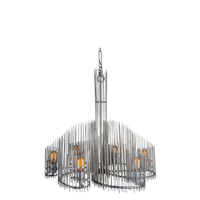 Varaluz Spikotic 6 Light Chandelier in Bauxite 225C06BX