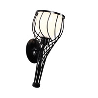 Varaluz Chianti 1 Light Tall Sconce in Black 226K01BL