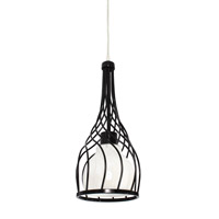 Varaluz Chianti 1 Light Mini Pendant in Black 226M01BL