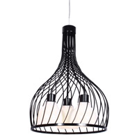 Varaluz Chianti 3 Light Pendant in Black 226P03BL