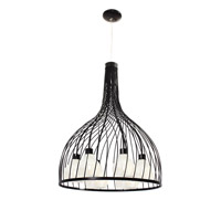 Varaluz Chianti 6 Light Pendant in Black 226P06BL