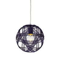 Varaluz At-Mesh-Sphere 1 Light Mini Pendant in Gilbert Grape 228M01GG alternative photo thumbnail