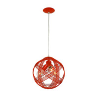 At-Mesh-Sphere 3 Light 12 inch Radioactive Tangerine Pendant Ceiling Light
