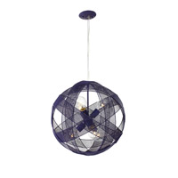 At-Mesh-Sphere 6 Light 19 inch Gilbert Grape Pendant Ceiling Light