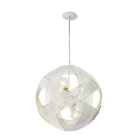 Varaluz At-Mesh-Sphere 6 Light Pendant in Pearl 228P06PE