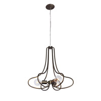 Varaluz The Whole Package 3 Light Chandelier in New Bronze 229C03NB