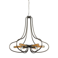 Varaluz 229C06NB The Whole Package 6 Light 26 inch New Bronze Chandelier Ceiling Light