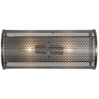 Varaluz 231B02NB Lit-Mesh Test 2 Light 18 inch New Bronze Vanity Wall Light