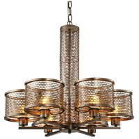 Varaluz Lit-Mesh Test 6 Light Chandelier in New Bronze 231C06NB