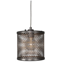 Varaluz Lit-Mesh Test 1 Light Mini Pendant in New Bronze 231M01NB