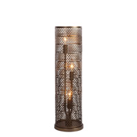 Varaluz Lit-Mesh Test 3 Light Table Lamp in New Bronze 231T03NB
