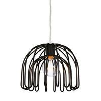 Varaluz Clyde 1 Light Mini Pendant in Black 232M01BL alternative photo thumbnail