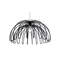 Varaluz Clyde 1 Light Pendant in Black 232P01BL