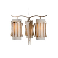 Varaluz Occasion 3 Light Chandelier in Zen Gold 233C03ZG
