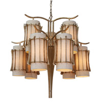 Varaluz Occasion 9 Light Chandelier in Zen Gold 233C09ZG