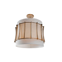 Occasion 3 Light 18 inch Zen Gold Semi-Flush Ceiling Light