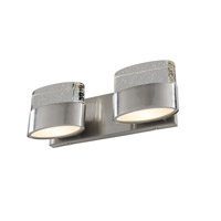 Pop 2 Light 14 inch Satin Nickel Vanity Wall Light