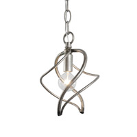 Varaluz Galaxia 1 Light Mini Pendant in Silver Age 235M01SA
