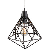 Varaluz Facet 1 Light Pendant in Forged Iron 236P01FI