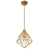 Facet 1 Light 11 inch Gold Leaf Mini Pendant Ceiling Light