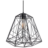 Varaluz Wright Stuff 1 Light Pendant in Black 237P01BL