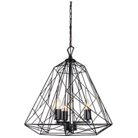 Wright Stuff 3 Light 20 inch Black Pendant Ceiling Light