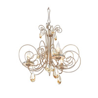 Varaluz Elysse 3 Light Chandelier in Gold Dust 238C03GD
