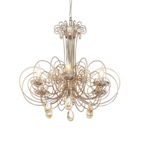 Elysse 6 Light 24 inch Gold Dust Chandelier Ceiling Light