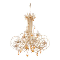 Varaluz Elysse 9 Light Chandelier in Gold Dust with Tri-Tone Crystals 238C09GD