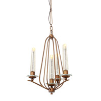 Varaluz Madison 4 Light Chandelier in Hammered Ore 239C04HO