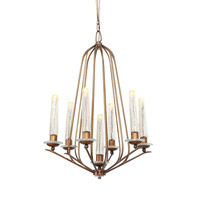 Varaluz Madison 7 Light Chandelier in Hammered Ore 239C07HO