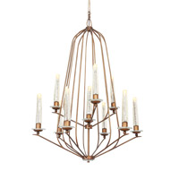 Varaluz Madison 10 Light Chandelier in Hammered Ore 239C10HO