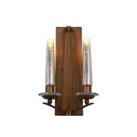 Varaluz Madison 2 Light Wall Sconce in Hammered Ore 239K02HO