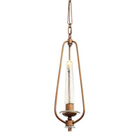 Varaluz Madison 1 Light Mini Pendant in Hammered Ore 239M01HO